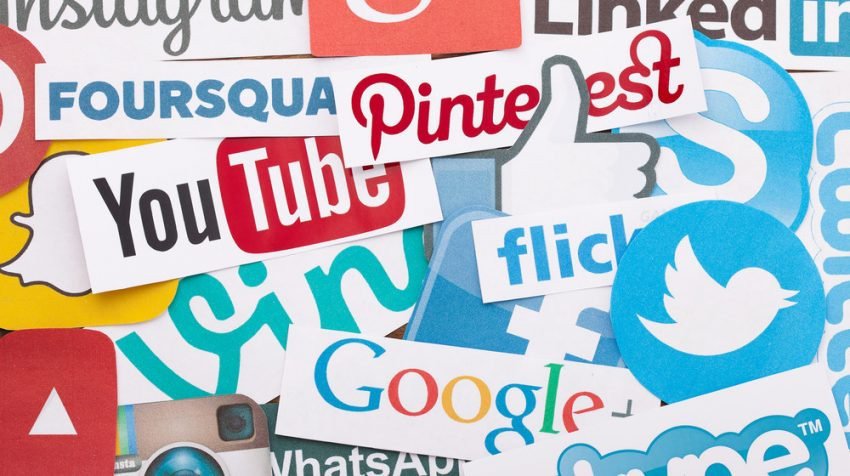 social media icons and account logos and branding like twitter, youtube, google & instagram