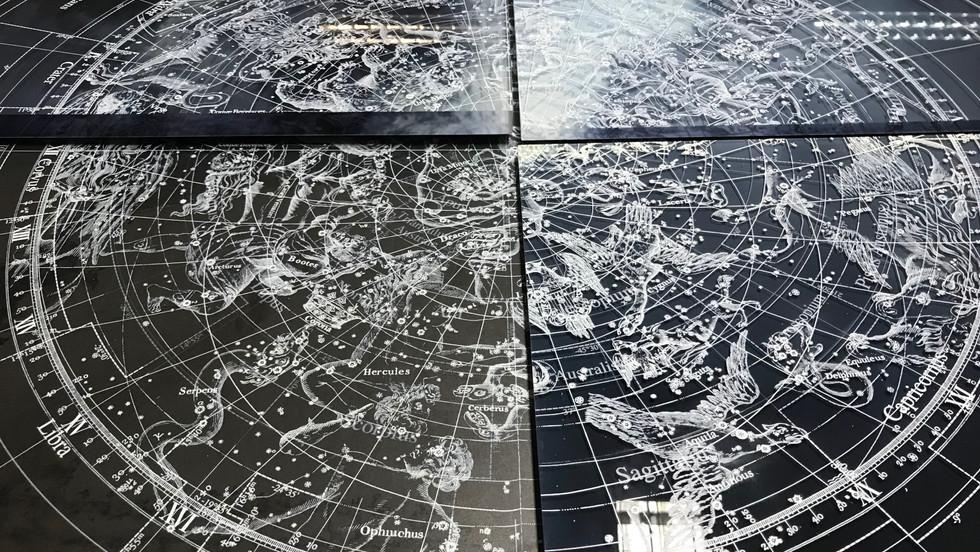 Cosmogonia texture _ metal _ glass