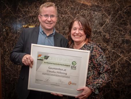 EFK Zertifikat für GAUMENFEST