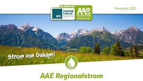 AAE Regionalstrom - Preise 2021