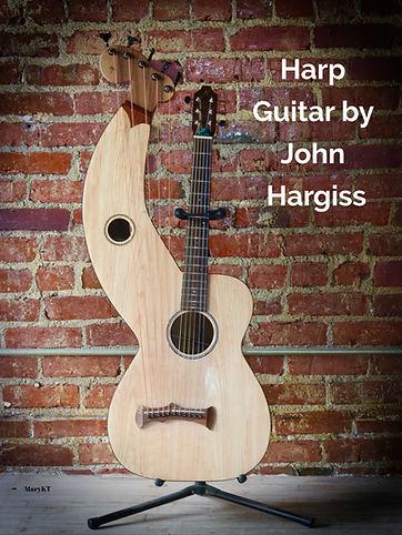 Harp guitar built by John Hargiss