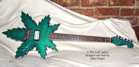 custom pot leaf guitar
