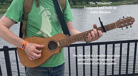 custom built minstrel guitar by Hargiss