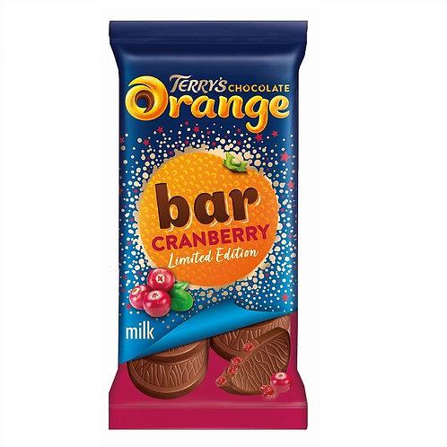 TERRY'S CHOCOLATE ORANGE & CRANBERRY BAR
