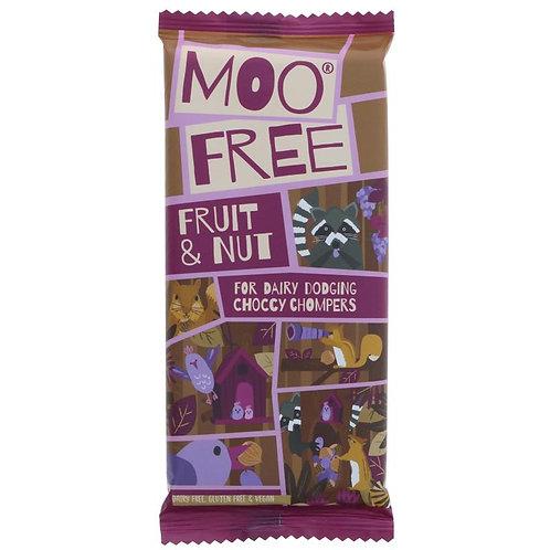MOO FREE FRUIT AND NUT CHOCOLATE BAR (80G)