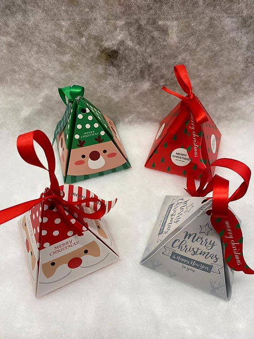 CHRISTMAS TREE PYRAMID BOX - SWEET FILLED