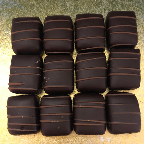 HANDMADE CHOCOLATE - DARK CHOCOLATE MARZIPAN