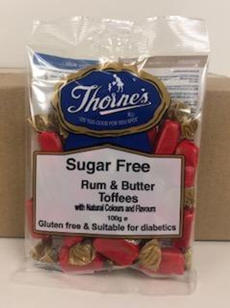 THORNE'S RUM & BUTTER TOFFEE'S (SUGAR FREE)