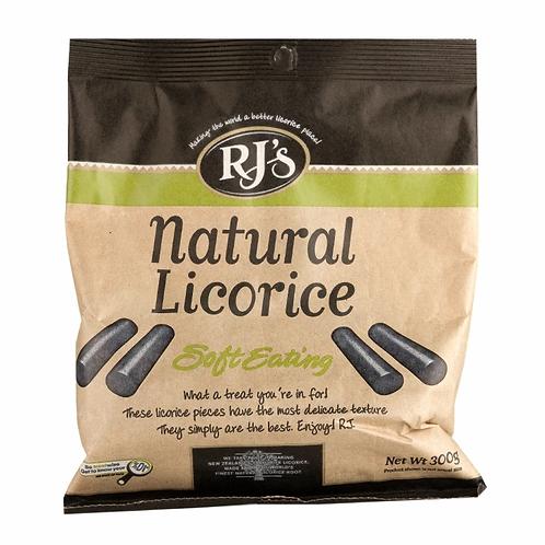 RJ's Natural Soft Eating Liquorice (300g)