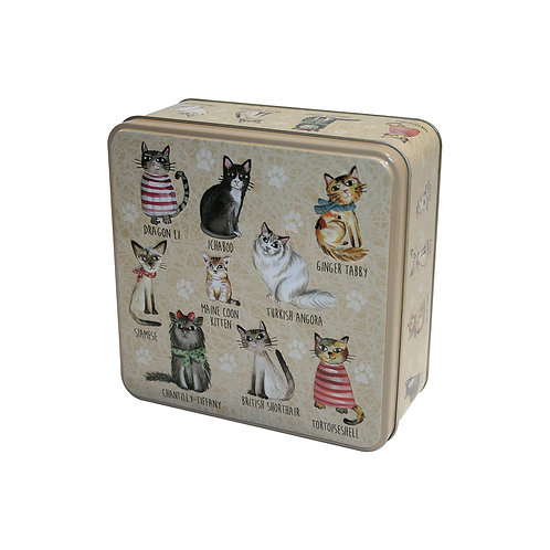 GRANDMA WILD'S EMBOSSED CATS IN JUMPERS TIN (160G)