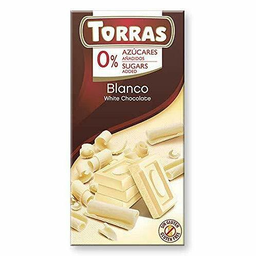 TORRAS 0% ADDED SUGAR WHITE CHOCOLATE BAR