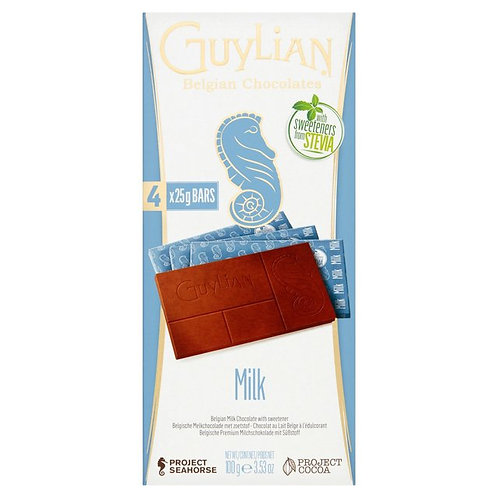 GUYLIAN MILK CHOCOLATE BAR  (NO ADDED SUGAR)