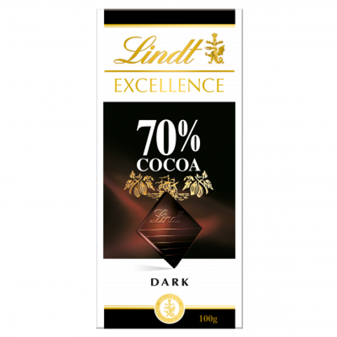 Lindt Excellence 70% Chocolate Bar 100g