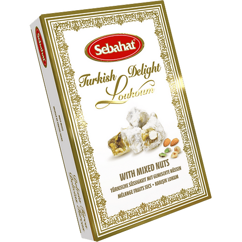SEBAHAT TURKIS DELIGHT (WITH MIXED NUTS) 250G