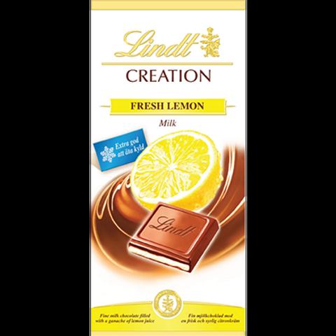 Lindt Creations Lemon Fresh Milk Chocolate Bar