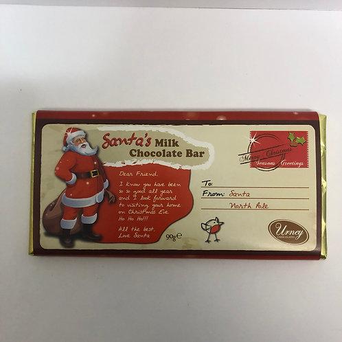 SANTA'S MILK CHOCOLATE BAR 90G