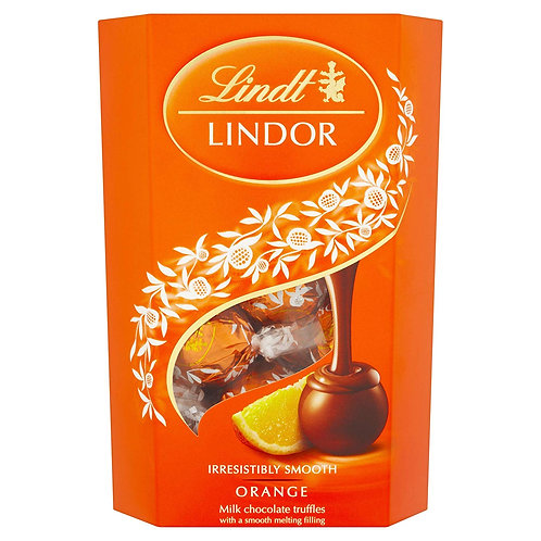 Lindt Lindors Orange Milk Chocolate (200g Box)