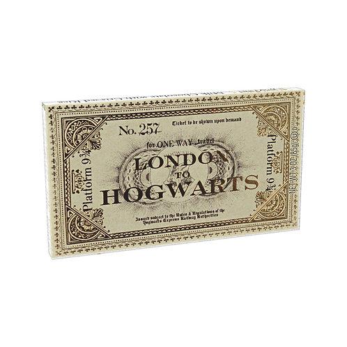 HARRY POTTER - LONDON TO HOGWARTS CHOCOLATE TICKET