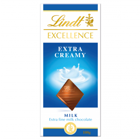 Lindt Excellence Extra Creamy Chocolate Bar 100g