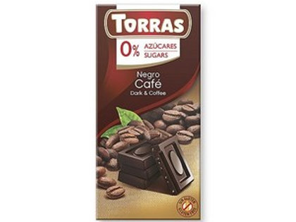 TORRAS 0% ADDED SUGAR DARK CHOCOLATE & COFFEE BAR