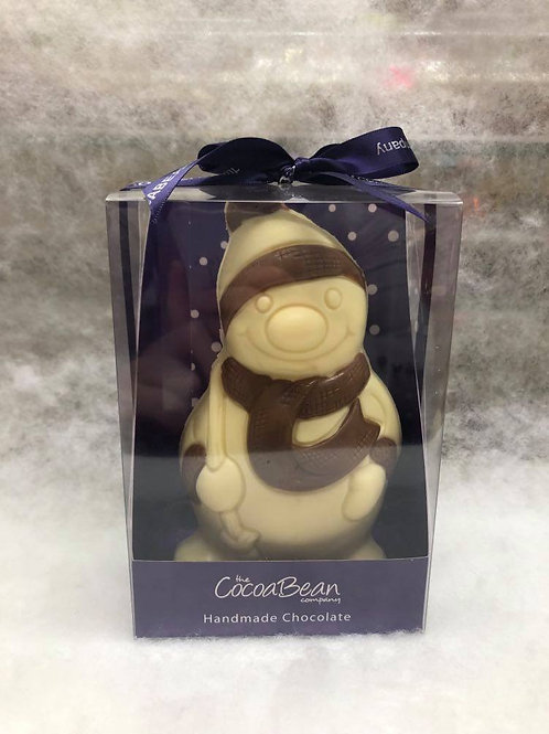 WHITE CHOCOLATE SNOWMAN WITH MILK CHOCOLATE DECORATION (170G)