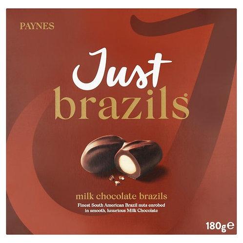 PAYNES MILK CHOCOLATE JUST BRAZILS (180g)
