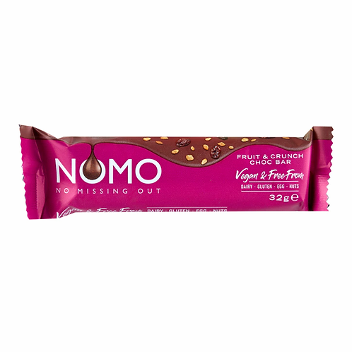 NOMO Fruit & Crunch Choc Bar