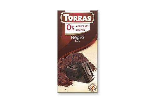TORRAS 0% ADDED SUGAR DARK CHOCOLATE BAR