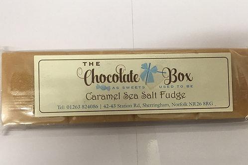Caramel Sea Salt Fudge Bar.