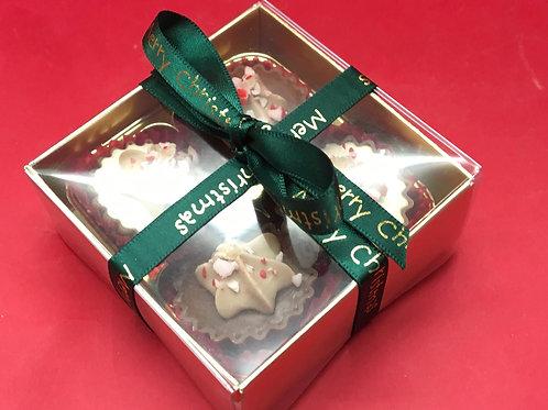 Box of 4 Handmade Candy Cane Chocolates