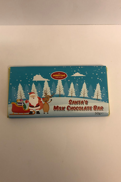 SANTA'S MILK CHOCOLATE BAR 50G