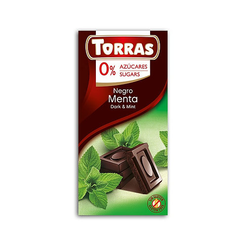TORRAS 0% ADDED SUGAR DARK CHOCOLATE MINT BAR