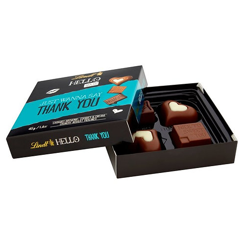 Lindt Hello Thank You Chocolate Box (45g)