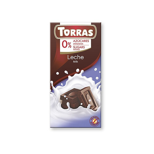 TORRAS 0% ADDED SUGAR MILK CHOCOLATE BAR