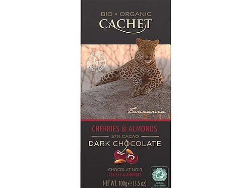 Cachet Cherries & Almond Dark Chocolate Bar