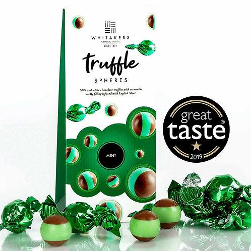 Whitakers Milk & White Chocolate Mint Truffle Spheres (100g)