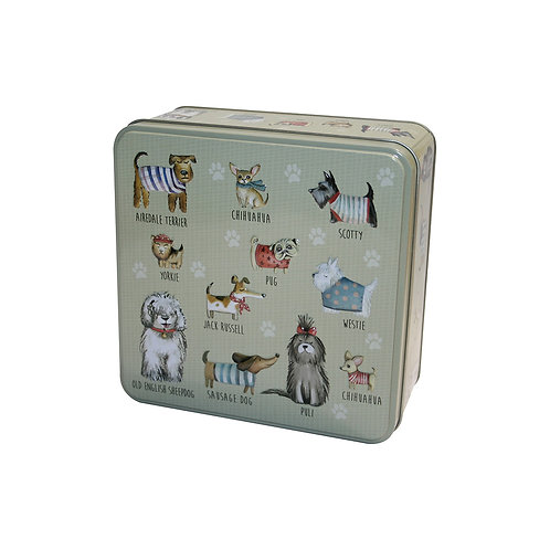 GRANDMA WILD'S EMBOSSED DOGS IN JUMPERS TIN (160G)