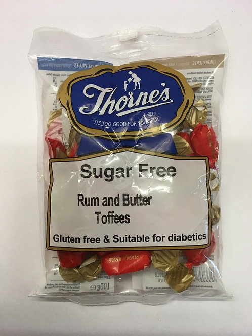 Thorne's Sugar Free Rum and Butter Toffees