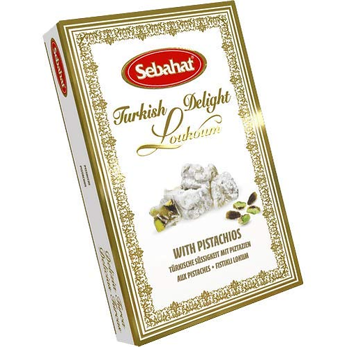 SEBAHAT TURKISH DELIGHT (WITH PISTACHIO'S) 250G