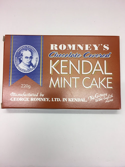 Romney's Chocolate Covered Kendal Mint Cake (220g)