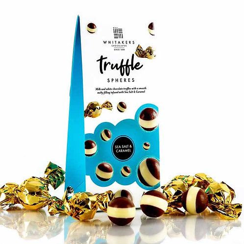 Whitakers Milk & White Chocolate Salted Caramel Truffle Spheres (100g)