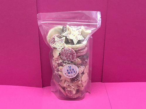 500g Retro Chocolate Mix Pouch Bag