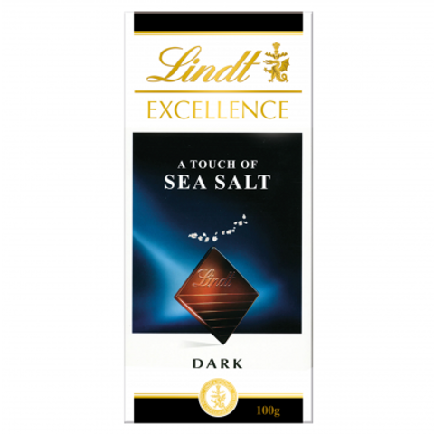 Lindt Excellence with a touch of sea salt Chocolate Bar 100g