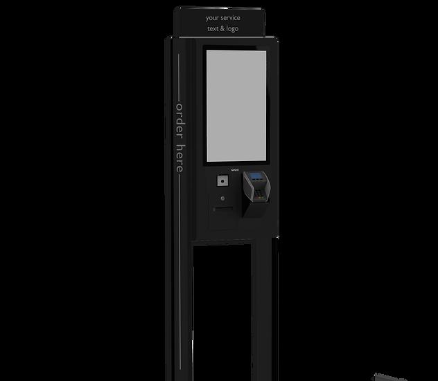 "QIOX 22"" Vloer kiosk enkelzijdig   zwart"