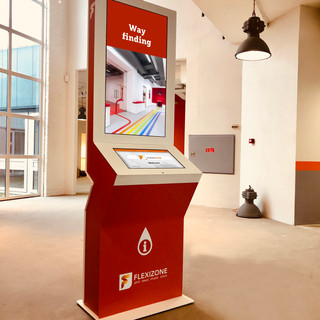 Flexizone wayfinding display
