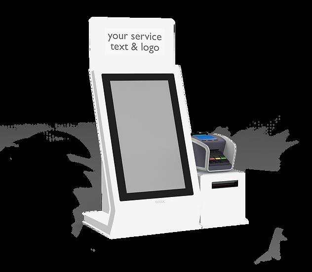 """QIOX 15"""" Desk kiosk & Printer met Pin meubel"""