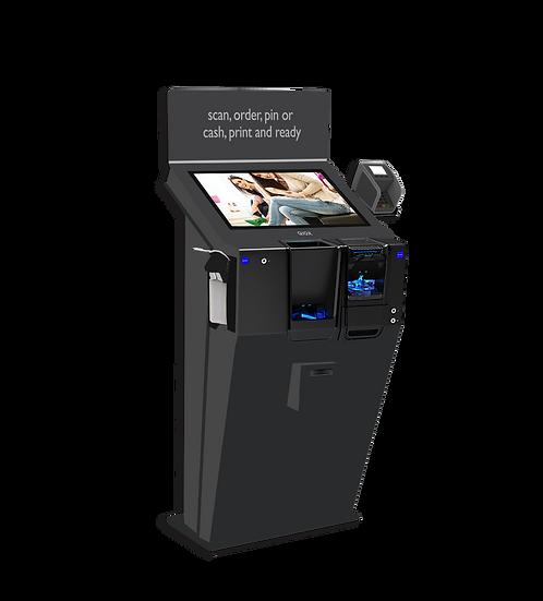"""QIOX 22"""" Landscape Kiosk & Cikam Cash Compact"""