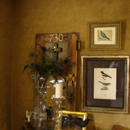 Dining Room with Peacock Feathers, Manda