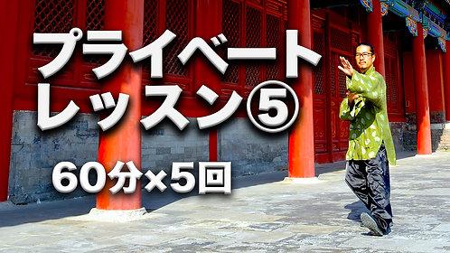 プライベートレッスン5回(60分×5回)
