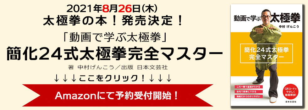動画で学ぶ太極拳 簡化24式太極拳完全マスター 中村げんこう 日本文芸社